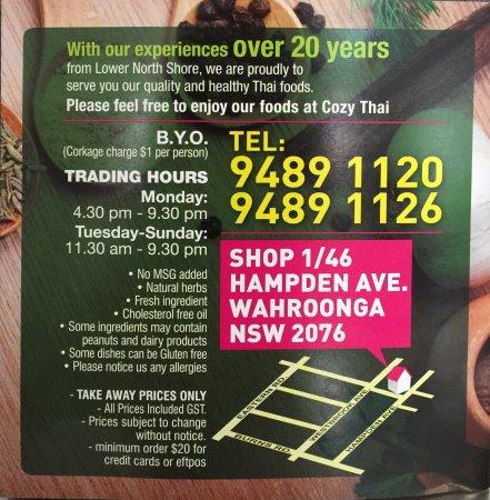 Wahroonga, Australia: Cozy Thai