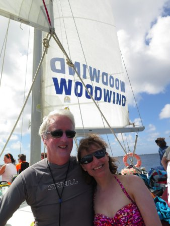 Woodwind Sailing & Guided Snorkel: Loving our 15th anniversary on the Woodwind 4 hr snorkel cruise.