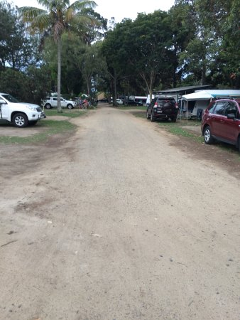 Woodgate, Australia: More of unsealed area particulary down the back