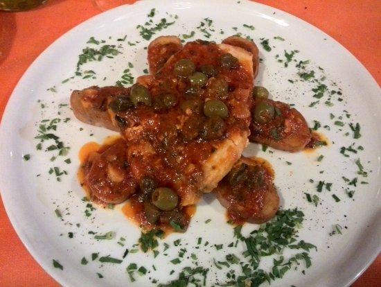 Cogorno, إيطاليا: Pesce spada alla messinese