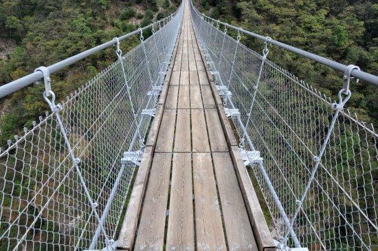 Sementina, Suiza: inizio ponte tibetano di Curzut lato ovest
