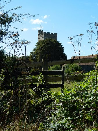 Charing village church, from Pett's Lane