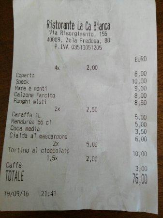 Zola Predosa, Ιταλία: Ristorante Pizzeria La Cà Bianca