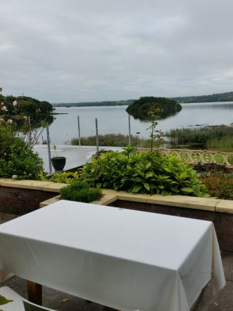 Virginia, Irlanda: Looking out at Lough Ramor from the terrace. Note the surface extension for 2017.