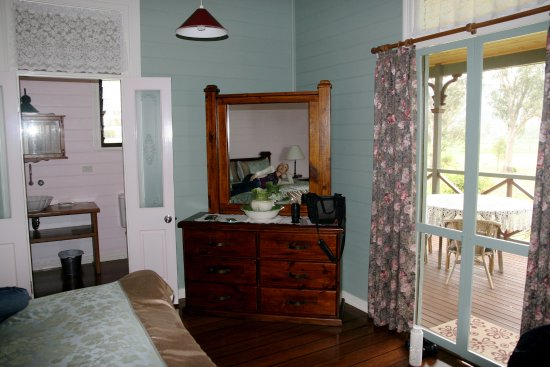 Feathers Home Stay: French doors to the ensuite and private space on verandah.