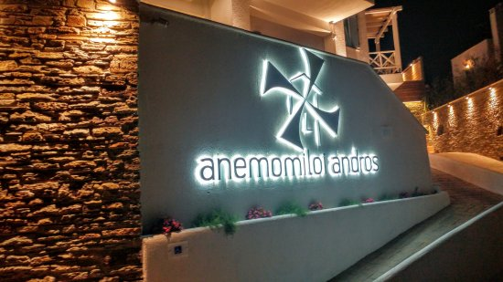 Andros Town, กรีซ: Apartments Building logo sign