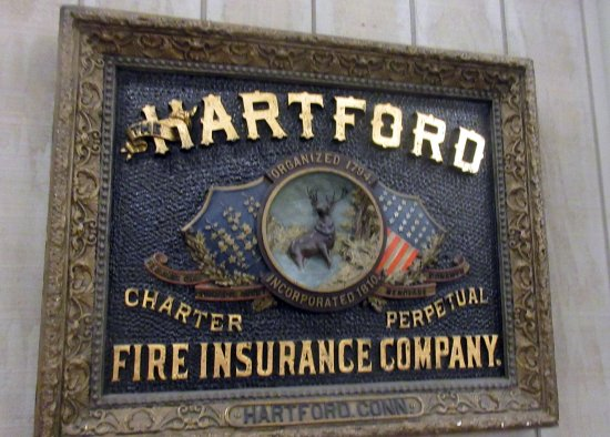 Hartford Fire Insurance Plaque Flame Museum of Firefighting