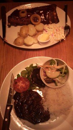 Crewe, UK: BBQ Ribs and Ribeye Steak_large.jpg