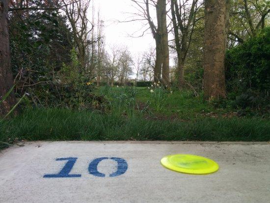 Stretford, UK: Concrete tee pads on each hole.