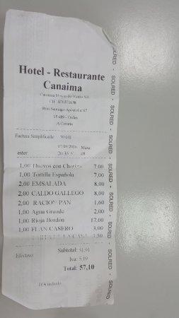 Ordes, Spania: lo que cenamos