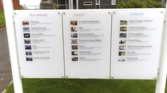 Utsikten Hotell: info sign