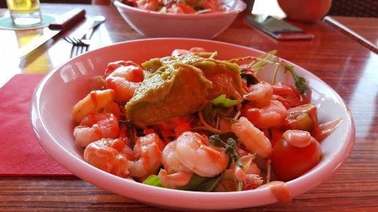 O'Malleys Restaurant: Salade de crevettes  epicées