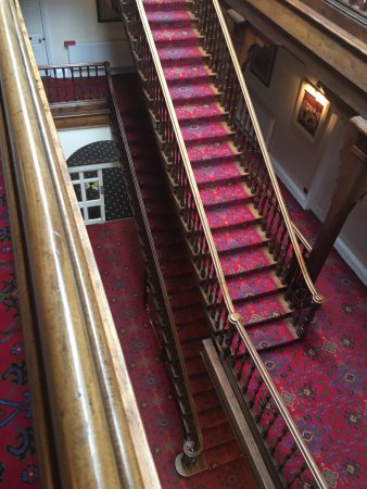 Knighton, UK: The very striking staircase - a classic