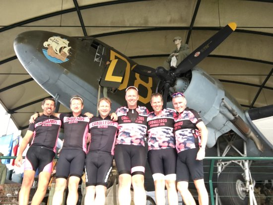 Airborne Museum: The Caballeros Allegros Cycling Team visit the museum