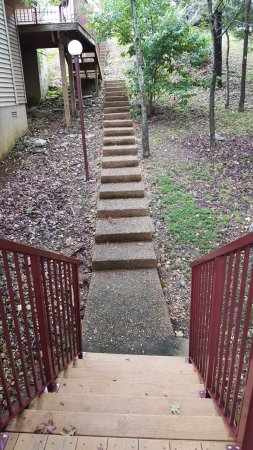 Kimberling City, MO: All steps are not visible. There were 54 steps from the top of the landing to our room.