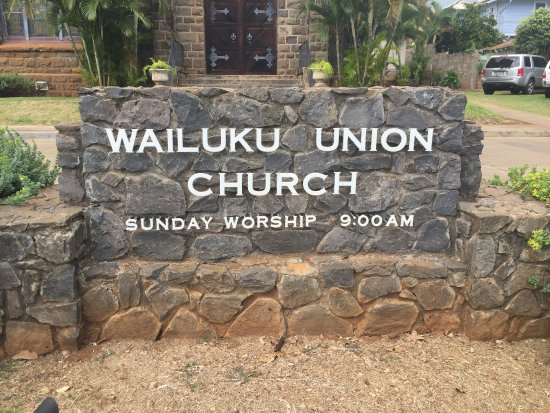 Wailuku, Hawaï: Church Sign