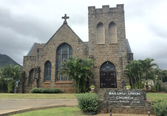 Wailuku, ฮาวาย: Front View of Church