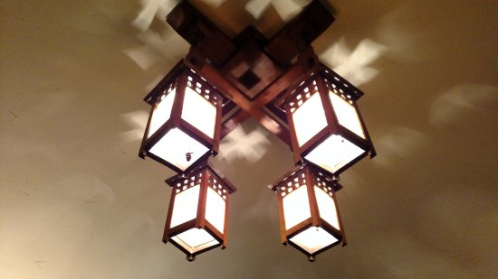 Whitehall, MI: Classic arts & crafts light fixture