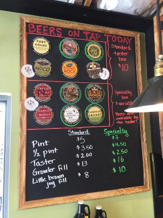 Fort Collins, CO: Beer on tap