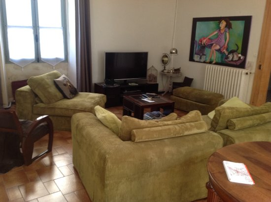 Sainte-Maure-de-Touraine, Prancis: Tastfully furnished & decorated lounge