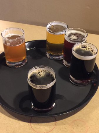 Fort Collins, CO: Flight of beers, all of them excellent