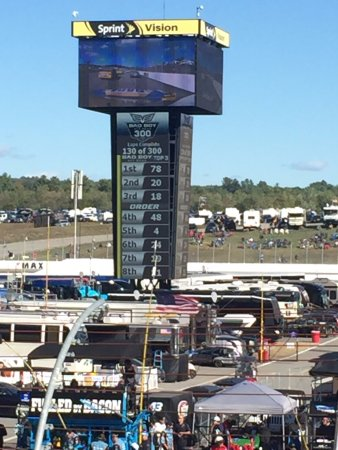 Loudon, NH: view of Sprint Vision from SD Row 8