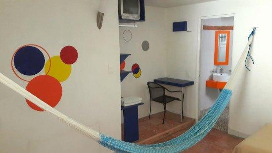 Hotel Maria Guadalupe: Habitacion Doble Estandar. Todas las habitaciones cuentan con un par de hamaqueros y tenemos ham