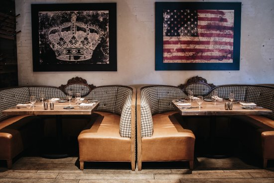 Dining Room Booths - Picture of Main + Abbey, Sioux City ...