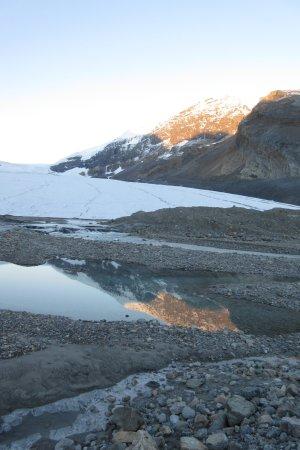 The Glacier View Inn: View of Glacier Close up at sunrise