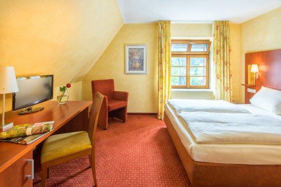 Hotel Felsentor: Einzelzimmer mit französischem Bett