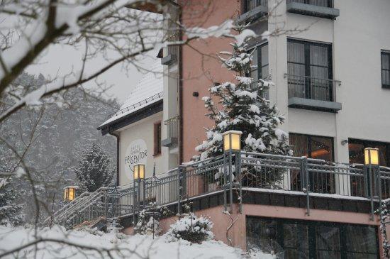 Hotel Felsentor: Außenansicht im Winter
