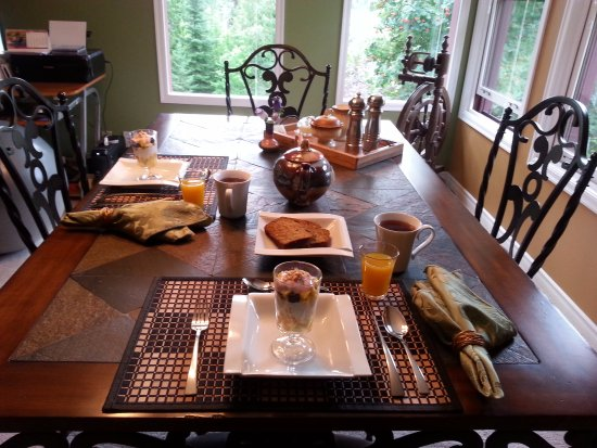 Nelson, Canada: Breakfast Table
