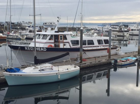Port Townsend, WA: Our boat, the Red Head.