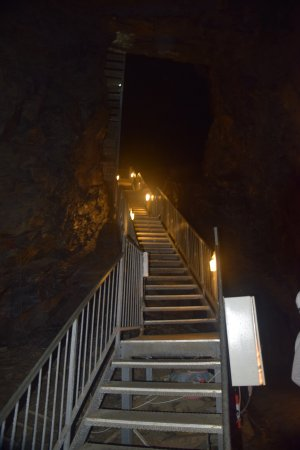 Blaenau Ffestiniog, UK: Looking up is a good way to recognize how far down you've gone