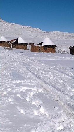 Sani Pass, Lesotho: winter season with plenty of snow
