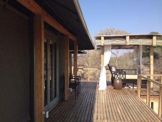 Timbavati Private Nature Reserve, Güney Afrika: Varanda do Quarto