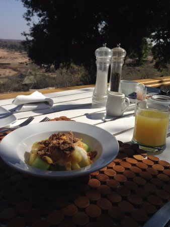 Timbavati Private Nature Reserve, Güney Afrika: Café da manha maravilhoso
