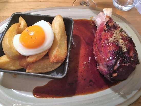 Comber, UK : Ham and eggs