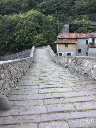 Borgo a Mozzano, Itália: Difficult to get to on tough mountain roads - be prepared to pull over suddenly as the parking i