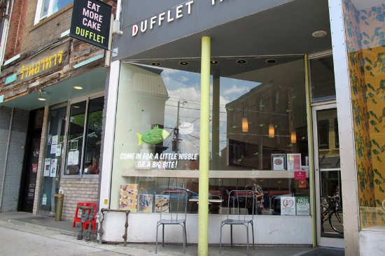 Dufflet Pastries Downtown: Dufflet on Queen West storefront