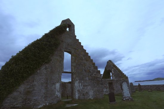 ruined church, balnakeil beach