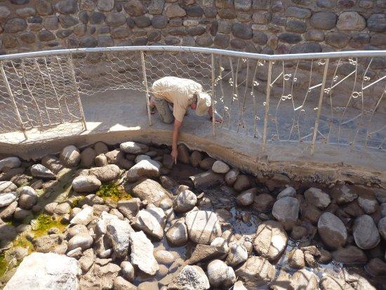 Фиш-Ривер-Каньон, Намибия: die 65° C heiße Quelle - Vorsicht!