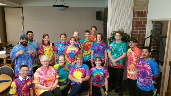 Hesston, KS: Staff celebrating Father's Day