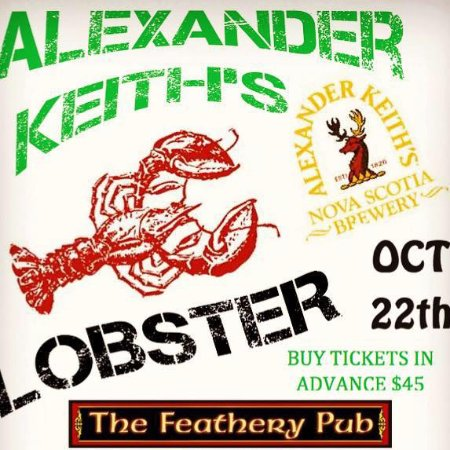 St. Catharines, Canadá: Lobster Dinner, salad, pint of keiths or 6oz house wine & dessert, Oct 22nd limited reservations