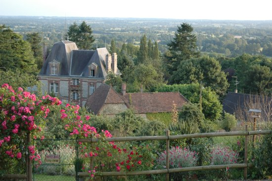 Domfront, Fransa: View from the B&B.