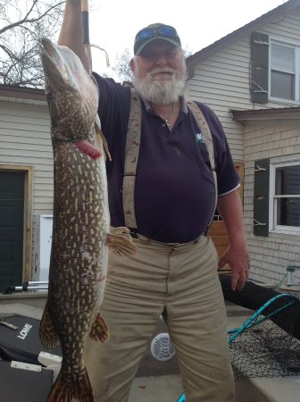 North Hero, VT: Big pike at Holiday Harbor