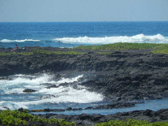 Pahoa, Havaí: Ocean entering the Kopoho Tide Pools