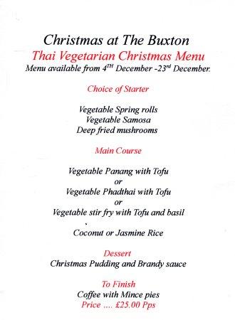 Hyde, UK: Thai Vegetarian Christmas Menu