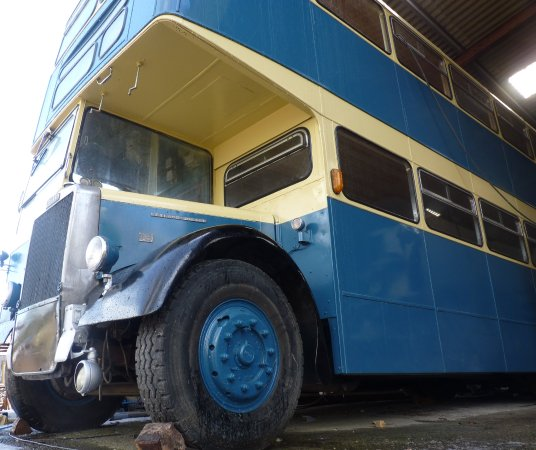 Dre-fach Felindre, UK: The converted double decker bus sleeping 6