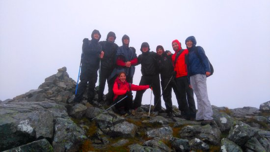 Kinlochleven, UK: Fabien and his co-workers on a day out for a Wild Scottish Experience...